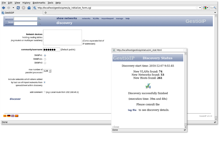 IP address management - discovery