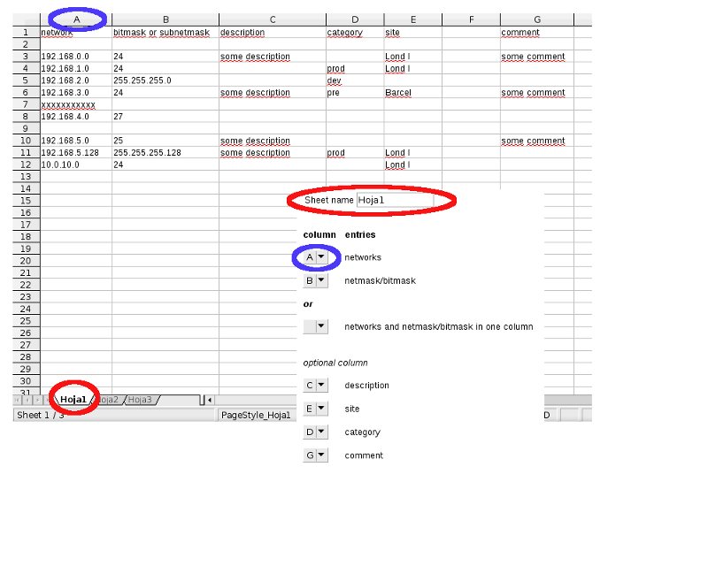 ip address spreadsheet template